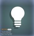 Light lamp Idea icon symbol on the blue-green vector image vector image