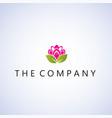 lotus logo ideas design vector image vector image