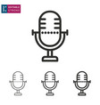 microphone line icon editable stroke vector image