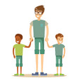 mixed race family vector image vector image