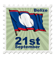 national day of Belize vector image vector image