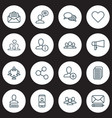 network icons set with dialogue staff private vector image vector image