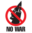no war vector image