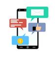 notification on smartphone like salary message vector image