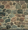 old stone castle wall floor vector image