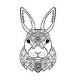 Ornamental White Rabbit vector image