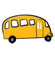 painting a yellow avtobus for the vector image vector image