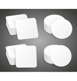 Paper blank beer coasters vector image vector image