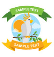 parrot cockatoo white large exotic birds with vector image