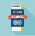 passport and ticket vector image vector image