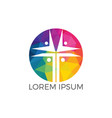 people church logo design vector image vector image