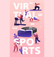 people use virtual reality concept tiny vector image vector image