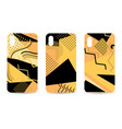 phone case set memphis pattern background vector image vector image