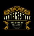 premium quality label vintage badges vector image vector image