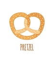 Pretzel icon on white background vector image