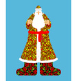 Russian Santa Claus Grandfather Frost Cloak in vector image