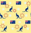 seamless background kangaroo stars australian vector image