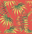 Seamless composition green leaves living coral