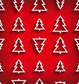 seamless pattern christmas tree vector image vector image