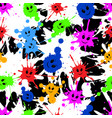 seamless repeating pattern of colored blots vector image vector image