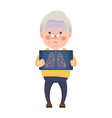 Senior Man Having Lung Problem vector image vector image