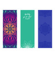 set design yoga mats floral and mandala vector image vector image
