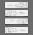 Set of abstract modern style banners vector image vector image