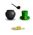 set of elements for st patrick s day vector image