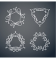 Set of outline monogram 05 vector image vector image