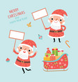 set with santa and announcements vector image vector image