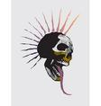 skull punk vector image vector image