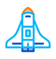 space shuttle spaceship icon outline vector image vector image