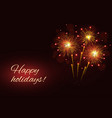 sparkling fireworks copy space vector image vector image