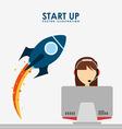 start up design vector image