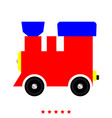 steam locomotive - train icon flat style vector image