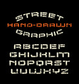 stencil-plate font in the style of handmade vector image vector image