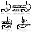 Stomach problems vector image