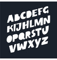 stylized font and alphabet vector image