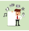 successful businessman character isolated icon vector image vector image