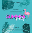summer party poster background vector image