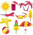 summer vacation labels vector image vector image