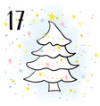 the advent calendar for christmas vector image
