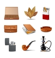 Tobacco Icon Set vector image vector image