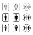 toilet robot sign icon set vector image vector image