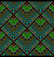 tribal ethnic style zigzag seamless pattern vector image