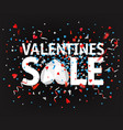 valentines sale color foil confetti and ribbons vector image vector image