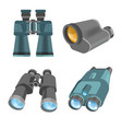 vision tools or devices with zoom spyglass and vector image vector image