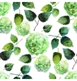 Watercolor hydrangea pattern vector image