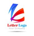 Letter K logo icon Volume Logo Colorful 3d Design vector image