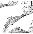 music notes pattern icon vector image